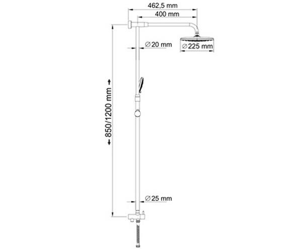 душевая система WASSERKRAFT A066