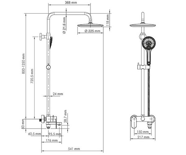 душевая система WASSERKRAFT A17401